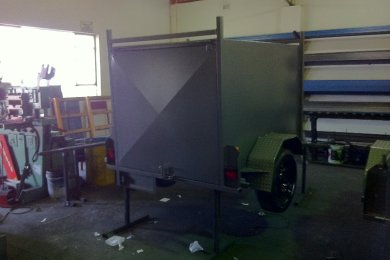 enclosed luggage trailer  in black