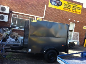 small size custom built enclosed trailers